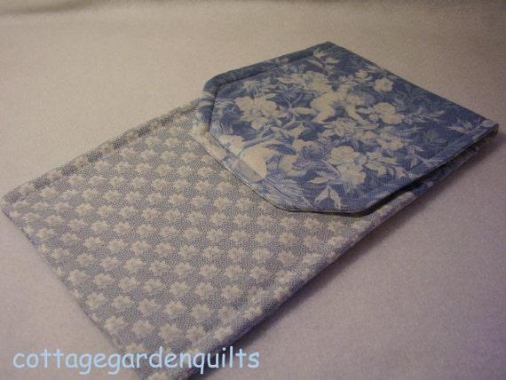 Blue Cherub Knitting Needle Case Circular - Double Needle Case - Croceht Hook