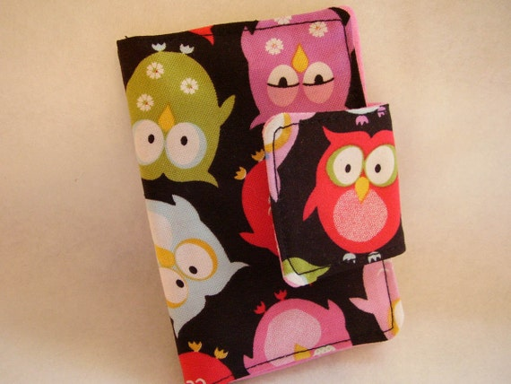Hoot Hoot Owl  Rewards  Card / Business / Credit  Card / Debit / Loyalty Card  Mini Case Holder with Velcro  Closure