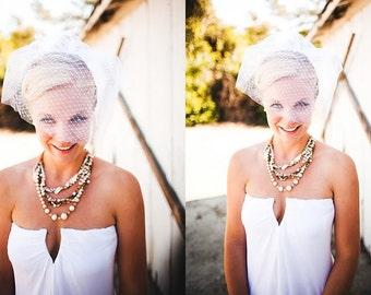 Vintage Bridal Pearl Rhinestone Bib Statement Ribbon Multi Strand Necklace - Triple Decker Dream Bridal Jewelry
