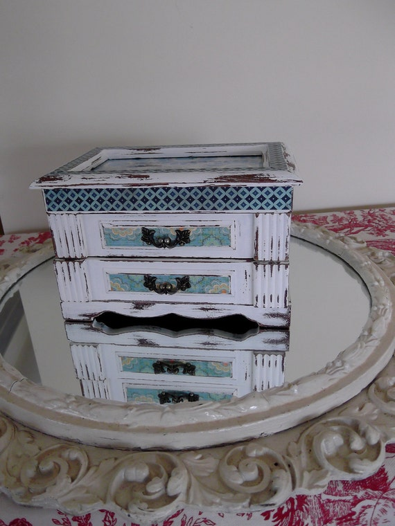 """Jewelry Box in Turquoise Papers part of the """" Summer Breeze Collection"""""""