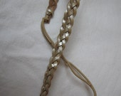 Metallic Woven Leather Headband - More Colors Available