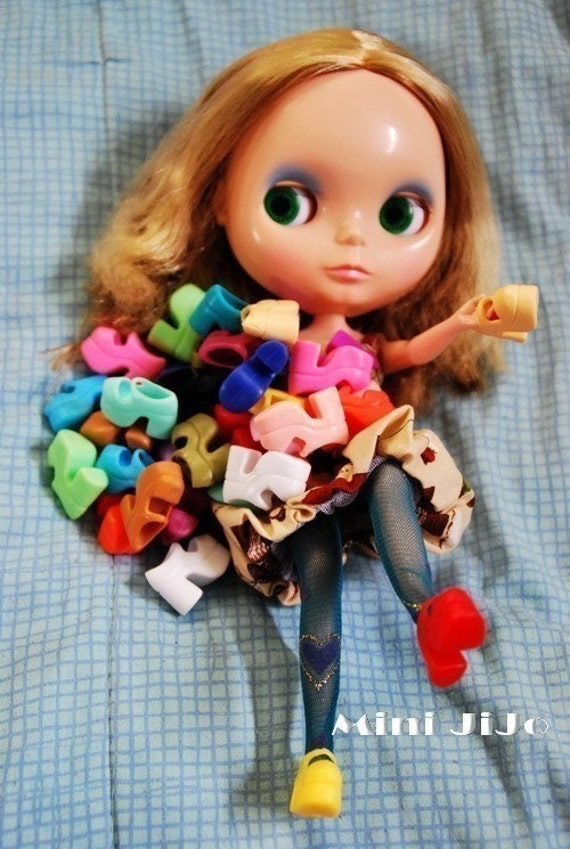 Free Ship Mary Janes 20 Pairs 20 colors Blythe Doll Obitsu Dal Pullip shoes