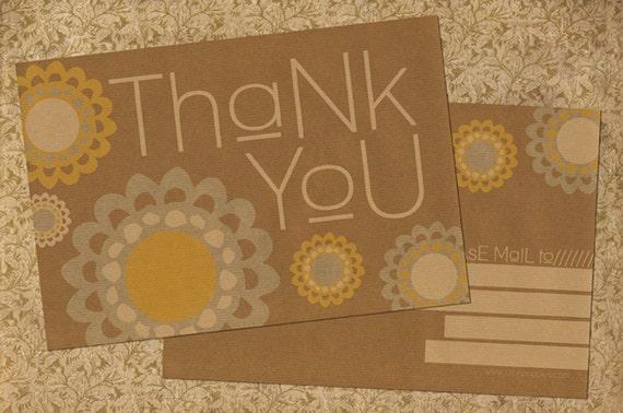 SALE Thank You Postcard Set