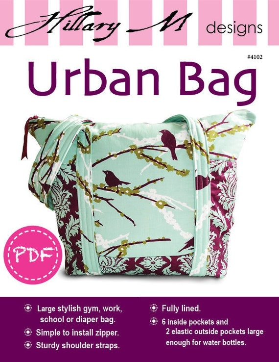 PDF Urban Tote Bag Purse SEWING PATTERN