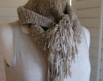 Wintertime in the CIty unisex basketweave scarf in softest rayon-chenille