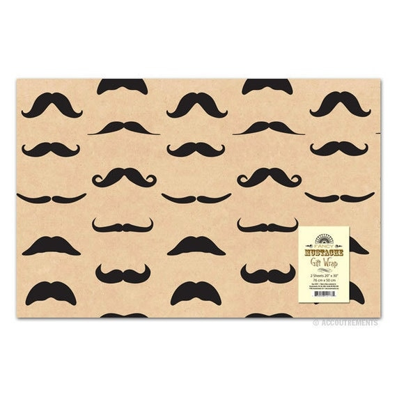 Mustache Gift Wrap Paper