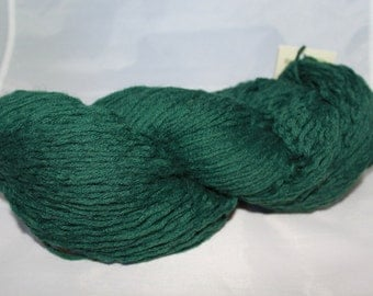 20% OFF SALE Forest Green Upcycled Wool Yarn, Worsted Weight Yarn - 435 Yards