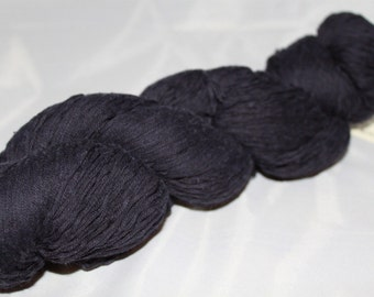 30% off STORE CLOSING SALE Navy Blue Upcycled Cotton Yarn, Sport Weight Yarn - 501 Yards