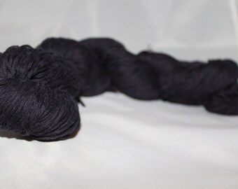 20% OFF SALE Reclaimed Navy Blue Cotton Yarn, Sport Weight Yarn - 256 Yards