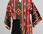 1970s tribal ethnic tunic dashiki top / medium large
