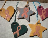 breast cancer ribbon necklaces