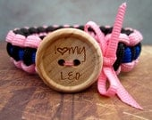 I love my Law Enforcement Officer - Thin Blue Line Paracord Survival Bracelet with Bow-