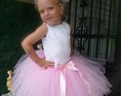 Toddler Girls Custom TuTu Pink Ballerina Dance Birthdays TuTu hair puff included sz 2t 3t 4t 5t 2 3 4 5