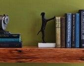 Rustic Modern Barn Wood Floating Shelf (8 inches deep)