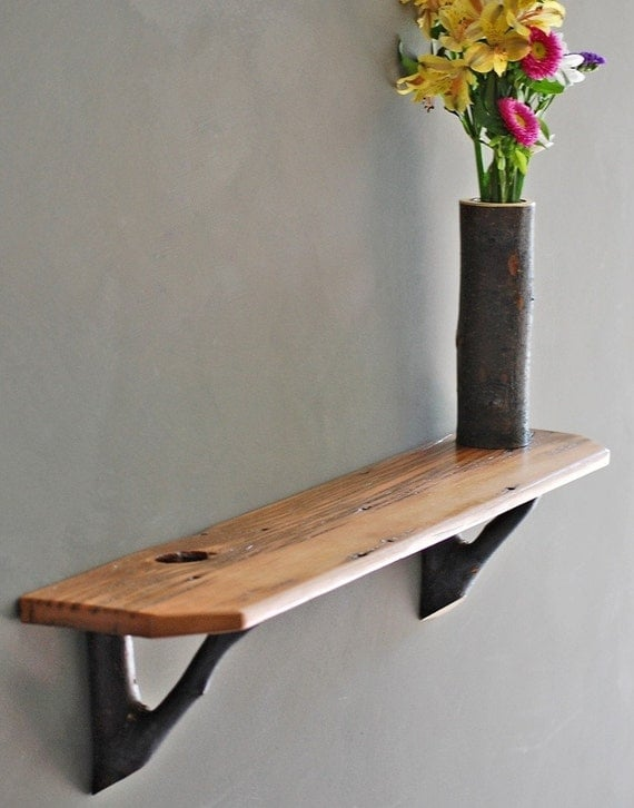 Barn Wood Shelves ~ Rustic barn wood shelf