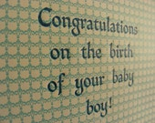 Congratulations on the birth of your baby boy by Vintage Script Press