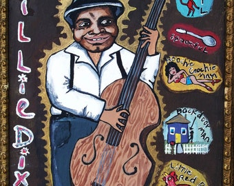 """Willie Dixon 11x14"""" signed matted print"""