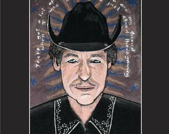 Bob Dylan 11x14