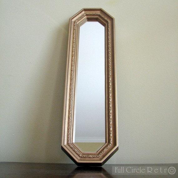 Vintage golden long mirror for Long antique mirror