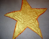 Star Shaped Baby Quilt (plush back, satin top)