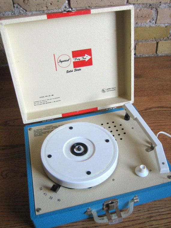 Imperial Play Time Record Player 50s 60s