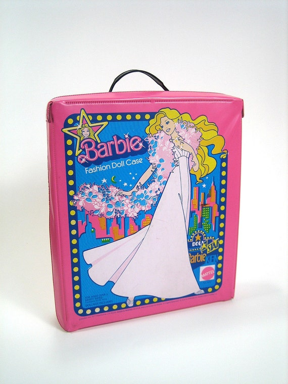 Vintage 1963 Barbie Carrying Case SPP Mattel Yellow Flair Coat 66