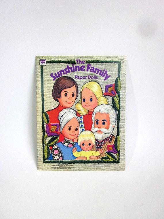 Sunshine Family Paper Dolls 1977