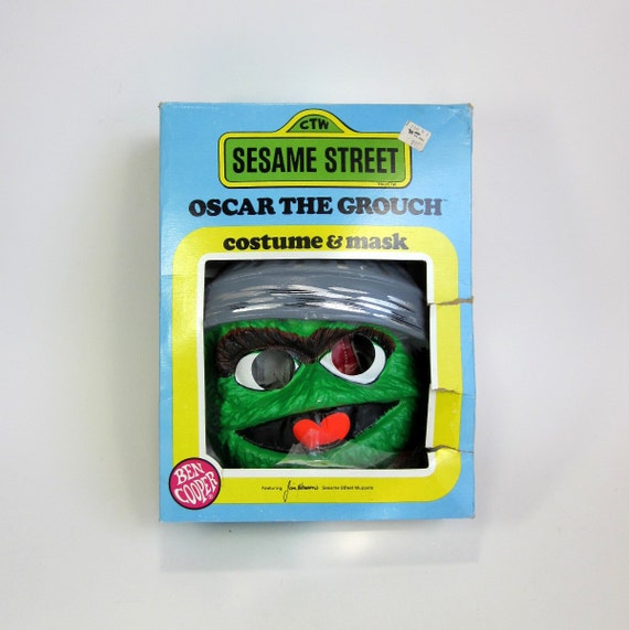 Ben Cooper Oscar The Grouch Costume And Mask In Box 1979 Size