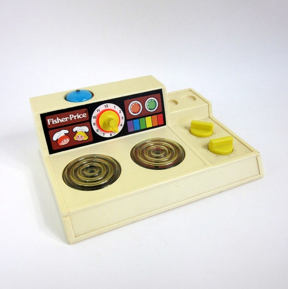 Fisher Price Toy Stove Top 1978