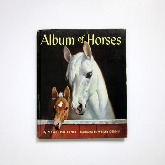Shop BOOK SALE // Album Of Horses by Marguerite Henry 1971