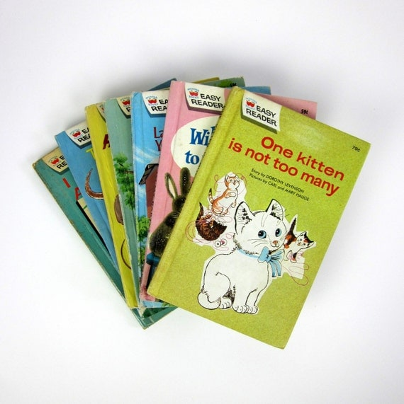 Easy Reader Wonder Books 60s / Set of 7