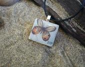 Vintage Butterfly Postage - Scrabble Tile Pendant