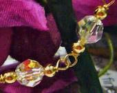 14K Gold Filled n 925 Sterling Silver Swarovski Crystal Bracelet Handmade Choose Colours