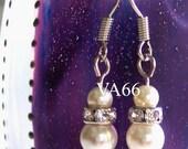Diamond Swarovski Crystal Pearl Earrings Col Choices Bridal, Bridesmaids, Prom, MOB, Bridal parties, Favors, Return gift