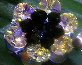 Swarovski Crystal Flower Motif 1pcs Brooch 24 Colour Choices bridal, mob, birthday gift, bridesmaids,