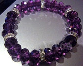 Elastic Stretch Swarovski Crystal Bracelet Donut Rondelle Choose Cols 5040 Diamond Rondelles Diamante Bride, Bridesmaids, MOB, Birthday
