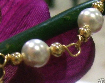 14K Gold Filled n 925 Sterling Silver Swarovski Pearl Bracelet Handmade Choose Colours Wire Wrapped Bridal Bridesmaid MOB, Prom
