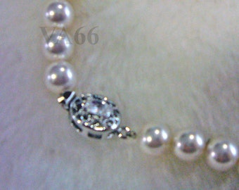 Elegant 18KGP 8mm Swarovski Pearl Necklace 18 Inches (46cm) 27 Colour Choices Classic Pearl Necklace Mother, bride