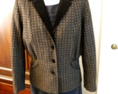 Size 10 Vintage Laura Ashley Vintage Women's Wool Jacket, Victorian Steam Punk Style, Made in England, Scottish Wool