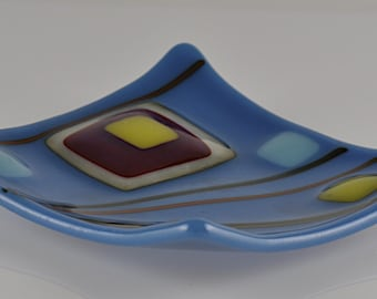 Small Fused Glass Plate
