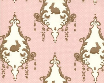 OOP HTF one yard Lily and Will MODA Fabric Cotton Tail Bunny Hill Pink