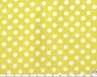 Lecien Polka Dots Celery Import Dot Fabric 4506CG