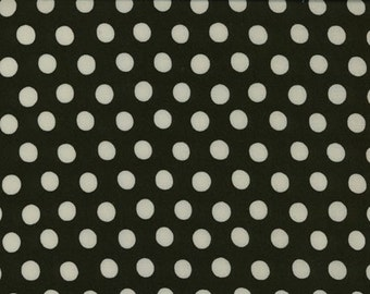 Kaffe Fassett Spot Polka Dots Fabric Midnight Black White