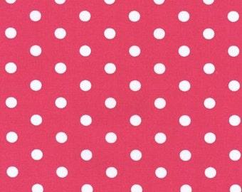 Robert Kaufman Pimatex Fabric Hot Pink Basic Polka Dots