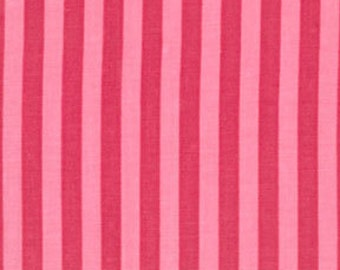 Light and Hot Pink Candy Clown Stripe Stripes Fabric Cotton Michael Miller