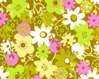 WildWood FS Fabric Flower Shower Green Hot Pink Daisy Daisies