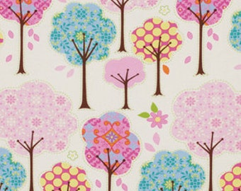 Pretty Little Things Dena Fabric Forest of Polka Dot Trees on Cream