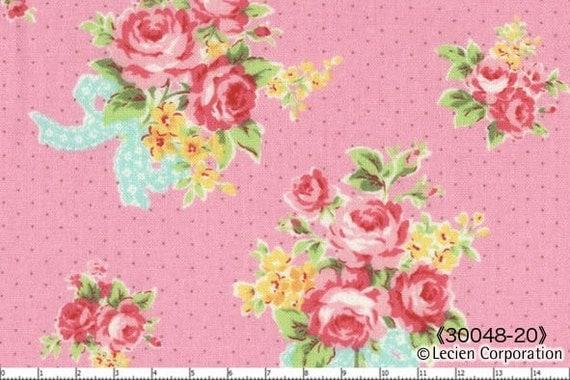 Lecien Flower Sugar Pink Floral Rose Bouquet Fabric 048