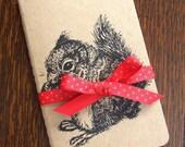 Squirrel Secrets Gocco Printed Pocket Moleskine Cahier Notebook