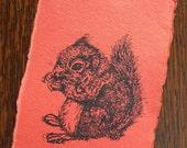 Red Squirrel Mini Gocco Print